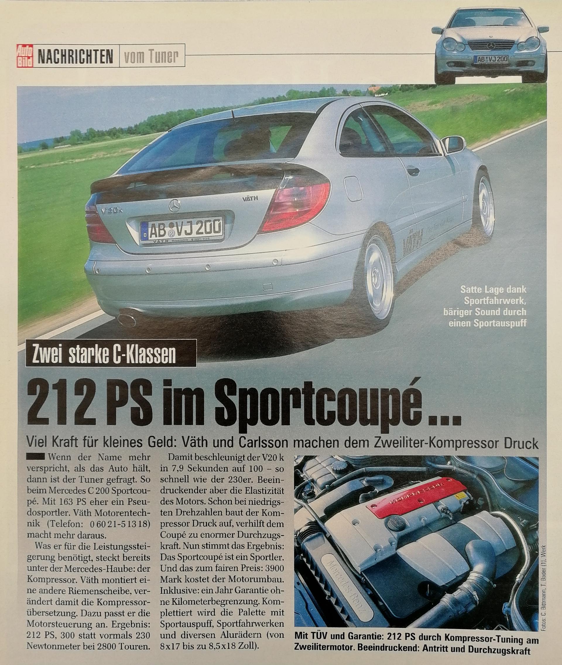 C-Klasse Sportcoupé mit 212 PS