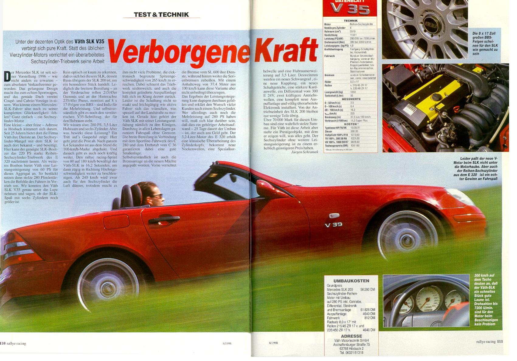 Der VÄTH SLK V35 - Verborgene Kraft